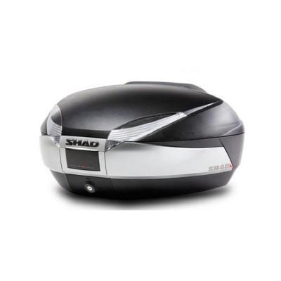 Μπαγκαζιέρα μοτοσυκλέτας SHAD Ασημί-τιτάνιο/μαύρο 48 LT