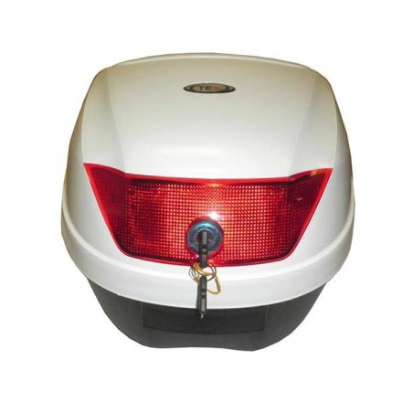 Μπαγκαζιέρα μοτοσυκλέτας TEC Λευκό 28 LT