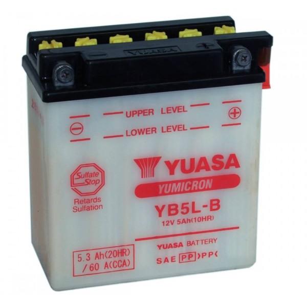 Μπαταριά με υγρά YUASA YB5L-B