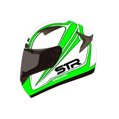 Κράνος Πράσινο/Λευκό STR HURRICANE