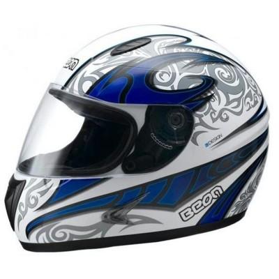 Κράνος Λευκό/Μπλε PACER BEON G-308