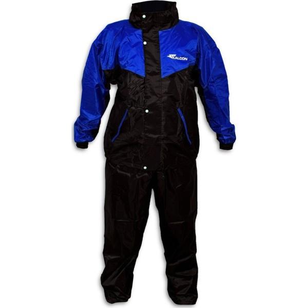 Αδιάβροχο σετ Μπλε με μαύρο L FALCON