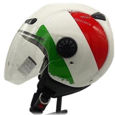 Κράνος 2XL Λευκό με ιταλική σημαία ZEUS 210B DD86