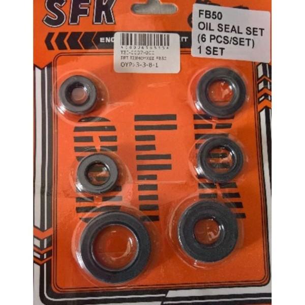 Τσιμούχες κινητήρα σετ 6 τεμάχιον ROC SUZUKI FB 50