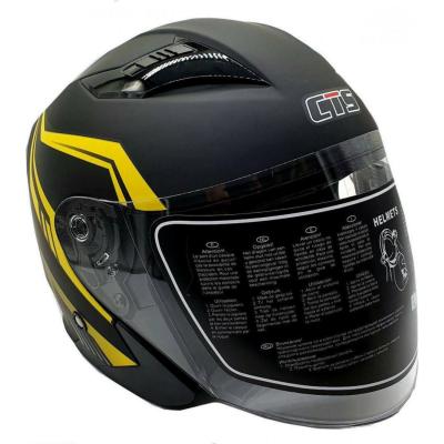 Κράνος L Μαύρο ματ με κίτρινα γραφικά CITYSTAR 630