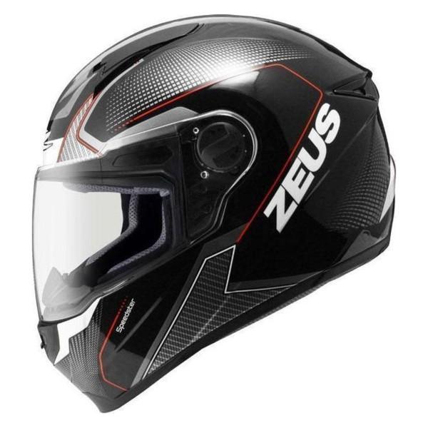 Κράνος 2XL Μαύρο/Λευκό ZEUS ZS-811 AL6