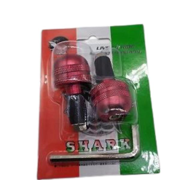 Αντίβαρα τιμονιού Μικρής διάμετρος SHARK Κόκκινα