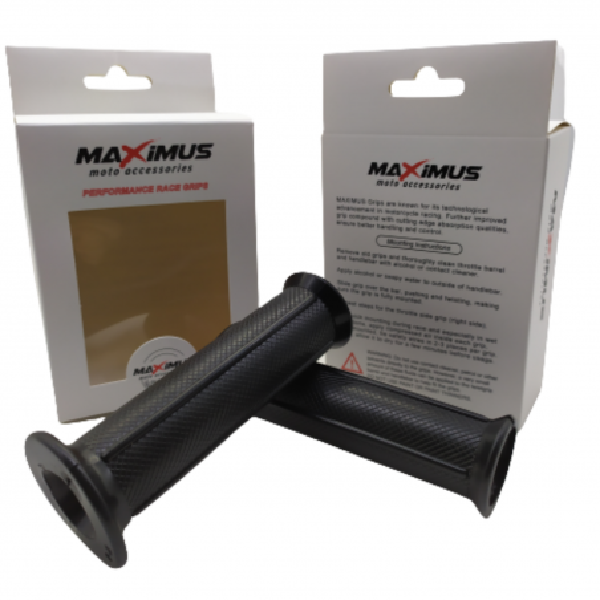 Χειρολαβές τιμονιού κλειστές MAXIMUS Μαύρες MX119A
