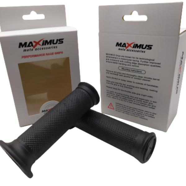 Χειρολαβές τιμονιού κλειστές με μπιμπίκι MAXIMUS Μαύρες MX1452