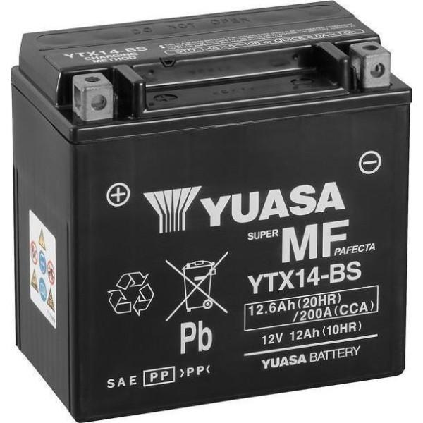 Μπαταρία με υγρά YUASA YTX14-BS