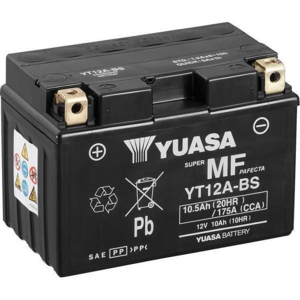 Μπαταριά με υγρά YUASA YT12A-BS