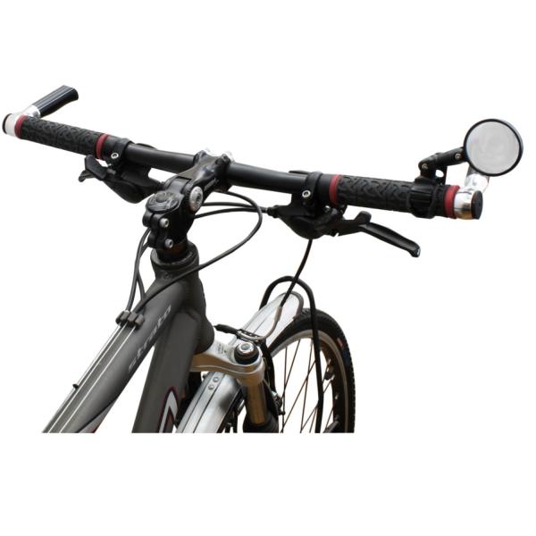 Καθρέπτης ποδήλατου M WAVE ΣΤΡΟΓΓΥΛΟΣ ΜΕ ΛΑΣΤΙΧΑΚΙ