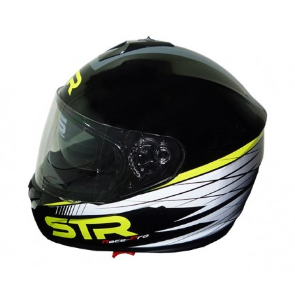 Κράνος Μαύρο/Κίτρινο STR RACE-PRO