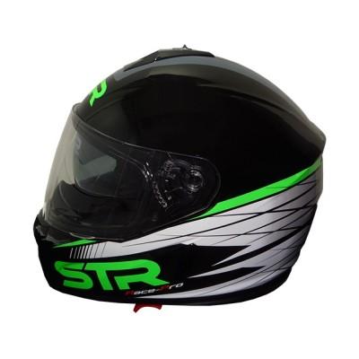 Κράνος Μαύρο/Πράσινο STR RACE-PRO