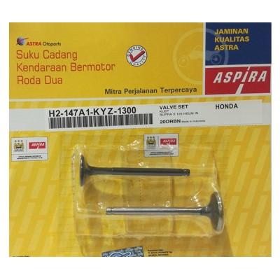 Βαλβίδες Εισαγωγής/Εξαγωγής σετ ASPIRA HONDA SUPRA-X125I HELMIN